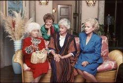 """From left, Estelle Getty, Rue McClanahan, Bea Arthur and Betty White are seen in this undated publicity image from the TV series """"The Golden Girls."""""""