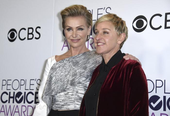 Portia de Rossi, left, and Ellen DeGeneres