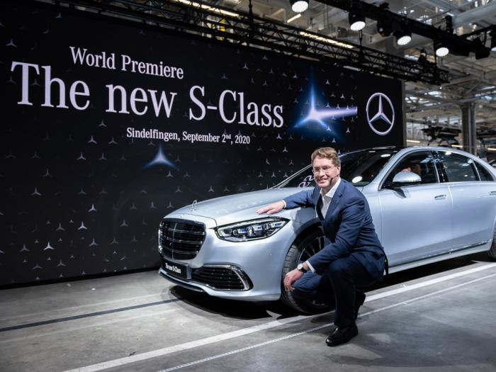 "Ola Kaellenius, Chairman of the Board of Management of Daimler AG, presents the new Mercedes-Benz S-Class at the world premiere in the ""Factory 56"" in Sindelfingen, Germany, Wednesday, Spt.2, 2020"