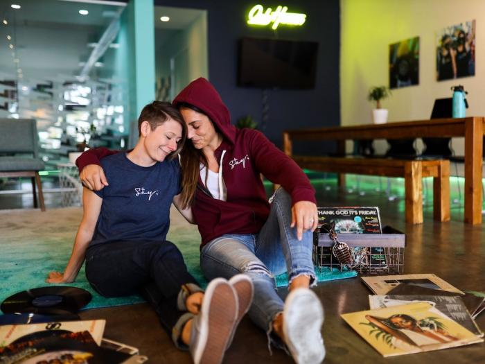 Crissy and Vanessa, members of the Only Human community and advocacy organization.