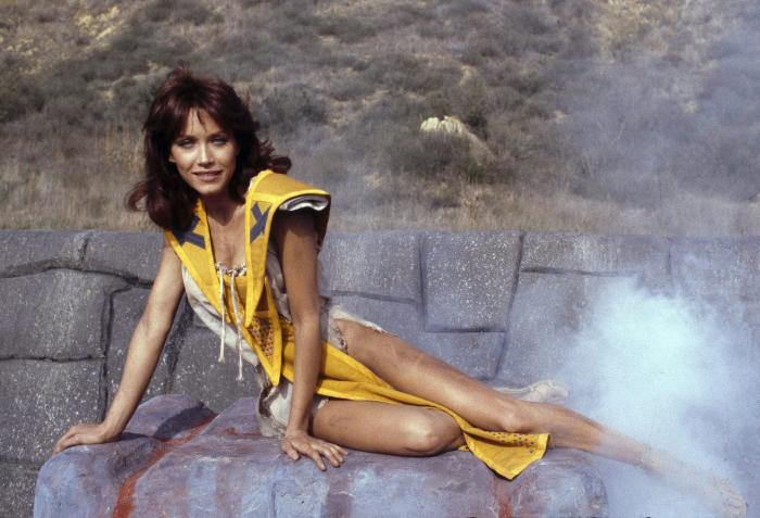 "Tanya Roberts stars as Kiri in the adventure movie ""The Beastmaster,"" on Dec. 16, 1981."